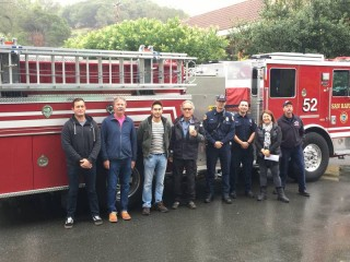 Marin Firefighter Scoop Day Raises $1,383 for Breast Cancer Awareness
